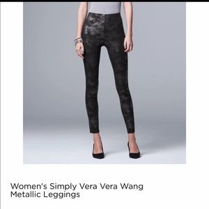 Vera Wang Mettalic Leggings
